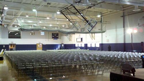 600 chairs set-up