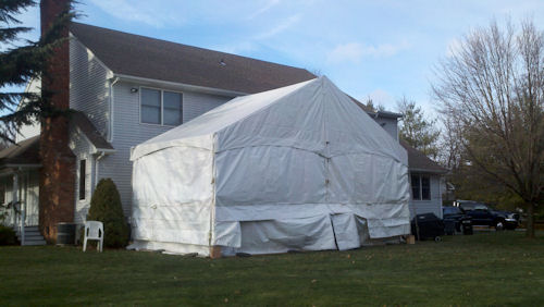 30 x 15 Tent Fully Sided on 13 ft legs