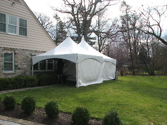 15 x 15 foot high peak frame tent