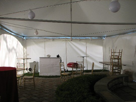 back side of tent area