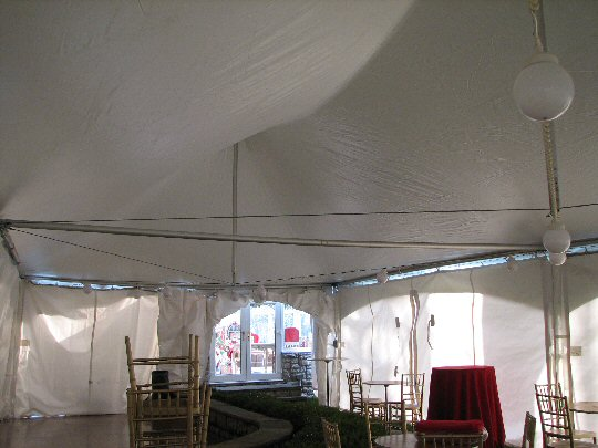 tent ceiling