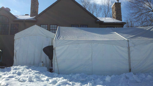 40 x 60 Frame Tent Gable End