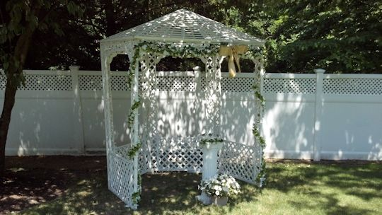 Gazebo for renewing vows