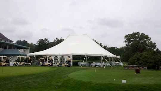 60 x 60 white tension tent