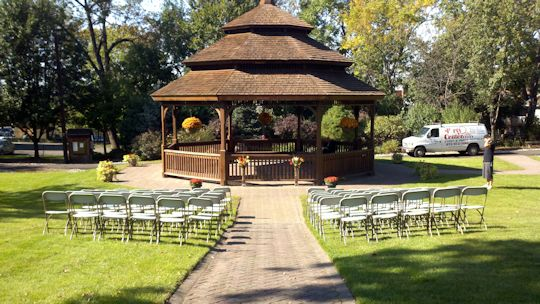 Wedding ceremony in Cranes Park Caldwell NJ
