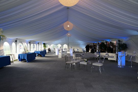 cocktail party under 40 x 90 frame tent