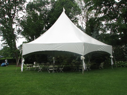 34 Hex high peak frame tent