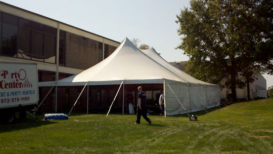 40 ft end of pole tent