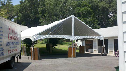 30 x 60 Frame Tent dance floor construction