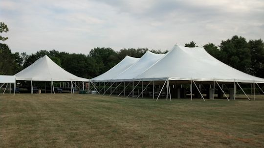 40 x 80 white pole tent and 60 x 120 white pole tent
