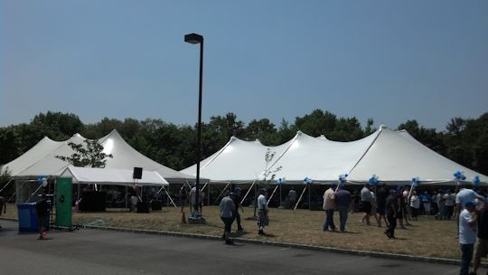 white pole tents for company picnic
