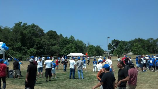 employee BBQ and games