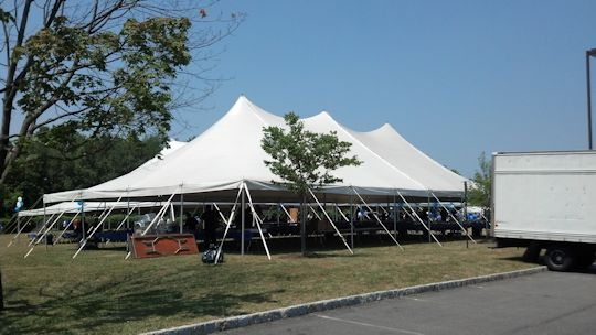 40 x 80 pole tent for food service
