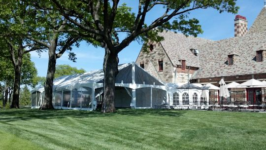 30 x 40 gable frame tent installed at Country Club