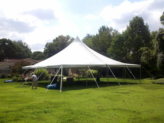 tent is up and looking great