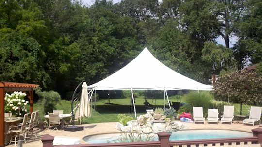 40 x 40 white tension tent