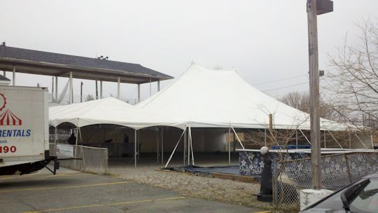 tents up and installed waiting for event to be set up