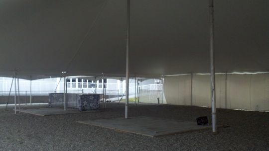 inside of 60 x 60 White pole tent