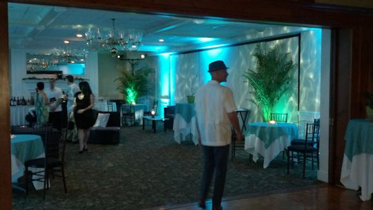 guests entering cocktail caribbean event