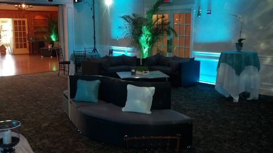 lounge furniture with H2O light and up light