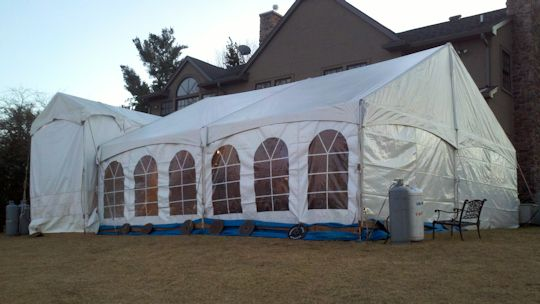 Tent for super bowl 2012