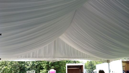 birthday party with tent liner