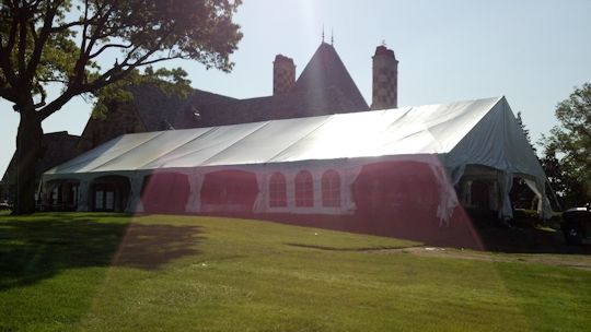 party under 40 x 90 frame tent with tent liner