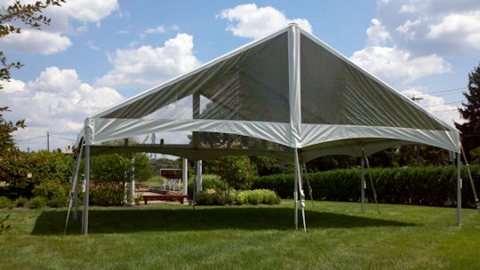 30 x 90 Future trac frame Tent construction with top
