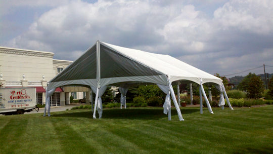 30 x 30 clear gable end tent with liner