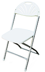 White Round Dining Height Chair