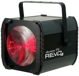 revo 4 LED effect light creats a virtual dance floor
