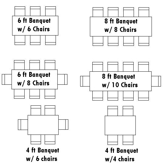 Rectangle Table Seating Chart Template